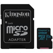 Memorija micro SDXC 128GB Kingston Canvas Go,SDCG2/128GB, U3 UHS-I + SD adapter