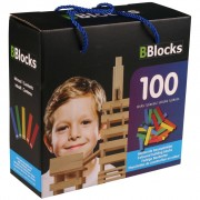 BBlocks Byggstavar 100 st flerfärgad trä BBLO890099