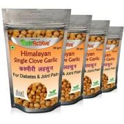 NutrActive Himalayan Single Clove Garlic for Control Diabetes Joint Pain Kashmiri Lehsun (Pack of 4)