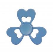 Fidget Spinner Toy Reductor De La Tension Anti - Ansiedad De Juguete Para Niños Y Adultos, 2 Minutos Tiempo De Rotacion De Perlas, De Acero R188 Rodamiento + Material De Aleacion De Zinc, Tres Hojas Corazon En Forma De Flor (azul)