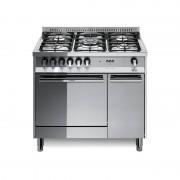 Lofra Mr96mf/c 90x60 Cucina Con Piano In Acciaio Lucidato A Specchio - 5 Fuochi A Gas Di Cui 1 Tripla Corona - Forno Multifunzi