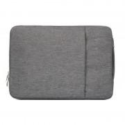 15.4 pouces Universal Fashion Soft Laptop Denim Bags Portable Zipper Sacoche pour ordinateur portable pour ordinateur portable pour MacBook Air / Pro, Lenovo et autres ordinateurs portables, taille: 39.2x28.5x2cm (Gris)