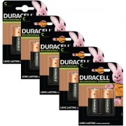 Duracell C size Rechargeable 10 Pack (BUN0057A)
