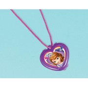 """Amscan Sofia The First Lip Gloss Necklace Disney Party Favors, Violet, 1 1/4"""" X 1 1/4"""""""