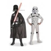Kit doble Dark Vador + Storm Trooper Star Wars niño 7 a 8 años (117 a 128 cm)