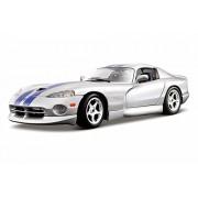Bburago Dodge Viper GTS Coupe, Silver - 12041 1/18 Scale Diecast Model Toy Car