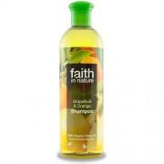 Sampon Faith in Nature, cu grapefruit si portocale, pt. par normal sau gras, 400 ml