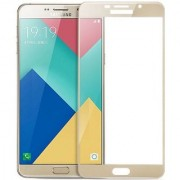 Samsung Galaxy A9 Pro (6 inch) Gold Tempered Glass Full Glue 5D Quality 9h Hardness Full Screen Protector