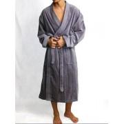 Hom Мужской серый мягкий махровый халат HOM New Thalas 04286cZ9