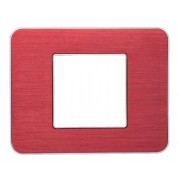 SOPIA Lichtschalter Einzelrahmen aus Metall (gebürstet-rot) 159359