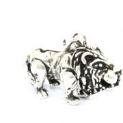 Handmade 925 Sterling Silver Unisex Charm Pendant Wild Animal Lion Theme