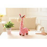"Judy Dre am Cute Animals Toys Giraffe Doll-Judy Dre am Soft Cartoon Animals Pink Giraffes Toy Stuffed Cotton Plush Children's Dolls Birthday Gift for Kid/Girlfriend 15.7"" Tall"
