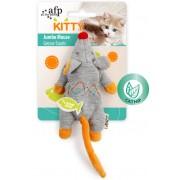 AFP velká myš s catnipem 19 cm - oranžovo-šedá