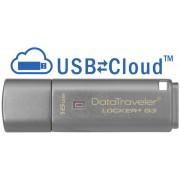 Stick USB 16GB KINGSTON DataTraveler Locker+ G3, USB 3.0, criptare hardware