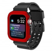 Apple Watch Series 4 Silicone Sport Band And Case - 44mm - Red / Black