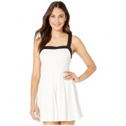 BCBGeneration Cocktail Pleated Knit Dress Optic White