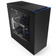 Skrinka NZXT S340 / MidTower/bez zdroja/USB3.0/ATX/čierna s modrou