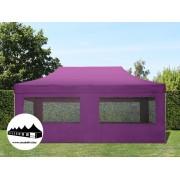 3x6m összecsukható pavilon ablakos Alutec Lila (Economy Alutec)