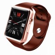 GW05 3G Wisconsin-Fi GPS Bluetooth V4.0 reloj de telefono inteligente usable-Oro rosa