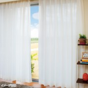 イージーオーダーカーテン幅100cm2枚組[丈134-175cm]【QVC】40代・50代レディースファッション
