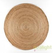 Covor rotund din iuta, realizat manual, DOON 200cm, natur 80909/00 TN