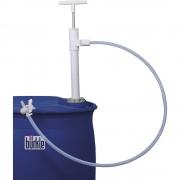 PTFE Fass-Handpumpe mit Auslaufschlauch und Hahn Eintauchtiefe 950 mm, 400 ml/Hub