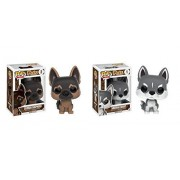 Funko POP Pets: German Shepherd and Siberian Husky Puppy Dog - 2 Piece BUNDLE