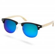 Paul Riley Holz Sonnenbrille Mit Blaugrünen Sonnenbrillengläsern