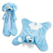 Gund Bundle of Two Blankets - Spunky Blue HuggyBuddy & Spunky Blue Blanket