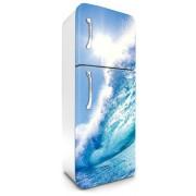 Hullám, hűtőszekrény matrica, 180 cm