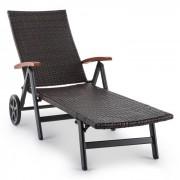 Korsika Klapligstoel met Armleuning 70 x 68 x 200 cm Polyrotan Aluminium