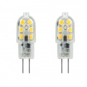 2 stuk G4 3W 220V 12 Bulb Transparent Koud witte LED Lamp capsule