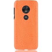 Mobigear Krokodil Shockproof Hoesje Oranje Motorola Moto G7 Play