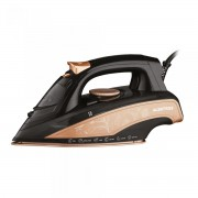 Fier de calcat Albatros Rosa, 3000 W, Talpă ceramică, Rezervor 0.45 L, Funcţie de auto-curăţare, Funcţie anticalcar, Alb/auriu