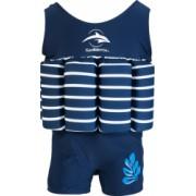 Costum inot copii cu sistem de flotabilitate ajustabil Konfidence blue stripe 4-5 ani