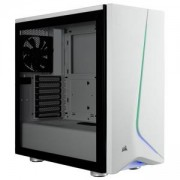 Компютърна кутия Corsair Carbide SPEC-06 RGB (Mid-Tower, White), Tempered Glass, CC-9011147-WW