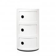 Kartell Componibili bijzettafel large (3 comp.) wit
