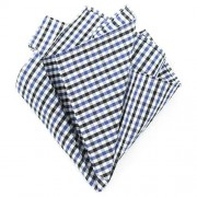 Ulterior Motive Gingham Blues V2 Handkerchief Blue/Black/White