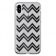 Husa iPhone XS / X Devia Silicon Bowen Series Black (cu model electroplacat)