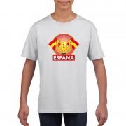 Bellatio Decorations Spanje kampioen shirt wit kinderen S (122-128) - Feestshirts