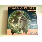 """Persis Clayton Weirs - Puzz-A-Plate 217 Pieces 12.25"""" Diameter - Housesitting (Cat sitting on Bird H"""