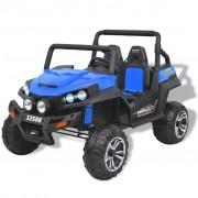 vidaXL Elektrisk åkbil för 2 personer XXL blå och svart