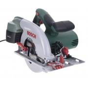 Fierăstrău circular Bosch PKS 55 A + ZB 0603501002, 1200 W, 5600 rpm, Negru/Verde