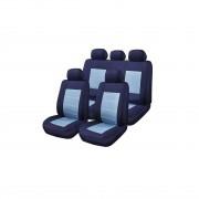 Huse Scaune Auto Renault Symbol Blue Jeans Rogroup 9 Bucati