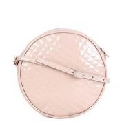 Bolsa Dergham Mini Bag Transversal Redonda Feminina - Feminino-Marrom Claro