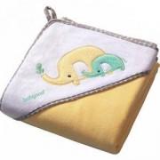 Бебешка велурена хавлия с качулка с подарък гъба за баня, 138/03 Babyono, 5901435406878