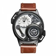 Ceas sport Oulm HP3578 dual time zone, maro