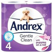 Andrex Gentle Clean Papel higiénico (4 unidades)