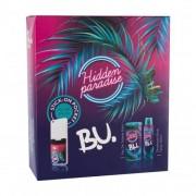 B.U. Hidden Paradise set cadou apa de toaleta 50 ml + deodorant 150 ml + sticker pentru telefon mobil 1 buc pentru femei
