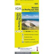 Fietskaart - Wegenkaart - landkaart 131 Nantes - La Roche-Sur-Yon | IGN